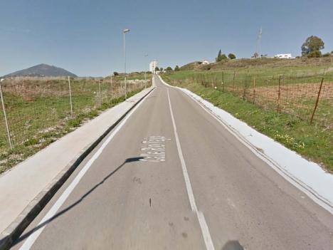 Olyckan inträffade på Calle Volga, som förbinder La Campana med kustvägen. Foto: Google Maps