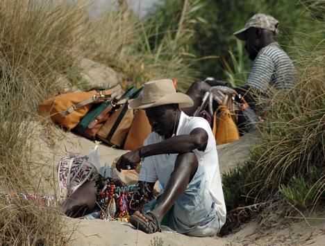 Det finns många ambulerande försäljare som härstammar från Centralafrika.
