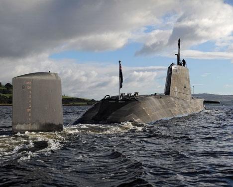 Den brittiska atomubåten HMS Ambush råkade ut för ett tillbud 22 juli nära spanskt territorium. Photo: LA(Phot) Stu Hill/MOD