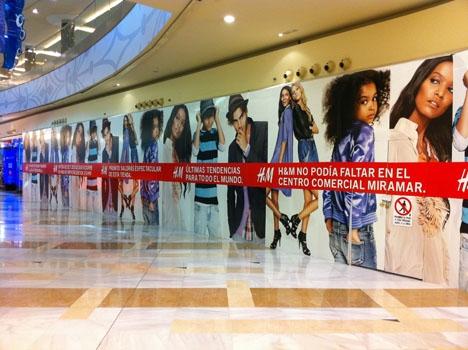 H&M stängde senaste deklarationsåret med 165 butiker i Spanien.