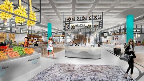 Skiss av den planerade gourmetmarknaden. Foto: Fajardo+T10 Arquitectos