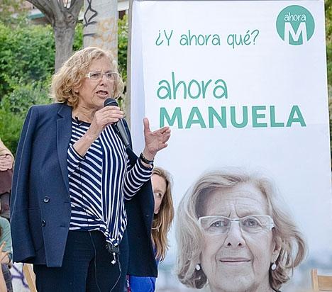 Madrids borgmästare Manuela Carmena lyckades förra året minska kommunens skuld med mer än en miljard euro. Foto: ahora madrid/flickr