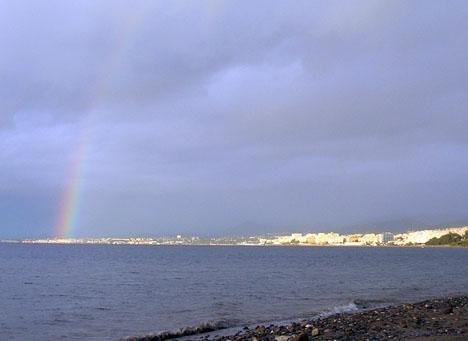 Det finns stora chanser att se regnbågen till helgen.