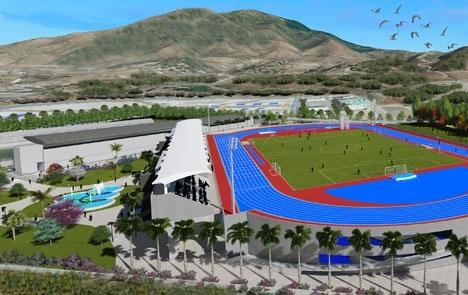Ritning över den planerade friidrottsanläggningen. Foto: Ayto de Estepona