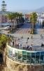 Representanter för AHN:s  styrelse i Nerja på kända  Balcón de Europa.