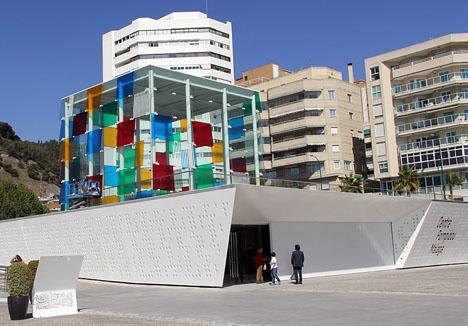 Rajoy och Hollande träffas i Centre Pompidou Málaga 20 februari,