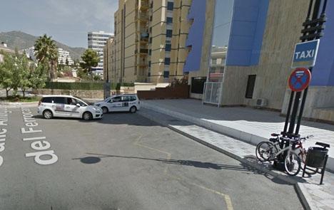 Taxihållplatsen vid Torreblanca del Sol. Foto: Google Maps