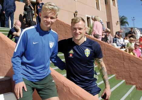 FRAMTIDEN OCH NUTIDEN  Daniel Strindholm drömmer om att bli proffs i La Liga, precis som John Guidetti som rekommenderar honom att