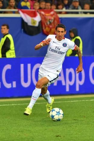 Ángel DiMaria var tvåmålsskytt, när PSG körde över Barcelona i Paris. Foto: Football.ua/Wikimedia Commons