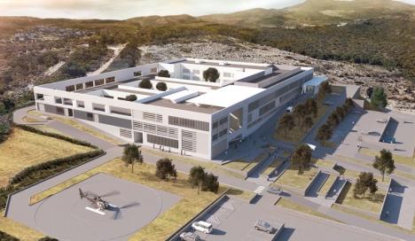 Ritning av det framtida sjukhuset. Foto: Ayto de Estepona