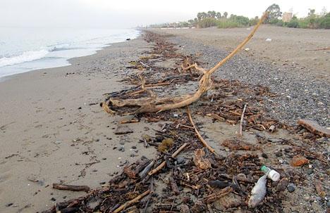 Stränderna på Costa del Sol har farit illa i vinter och är åter i farozonen på grund av en ny väntad storm 3-4 mars.
