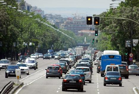 Till 2025 kan endast utsläppsfria fordon tillåtas i centrala Madrid.