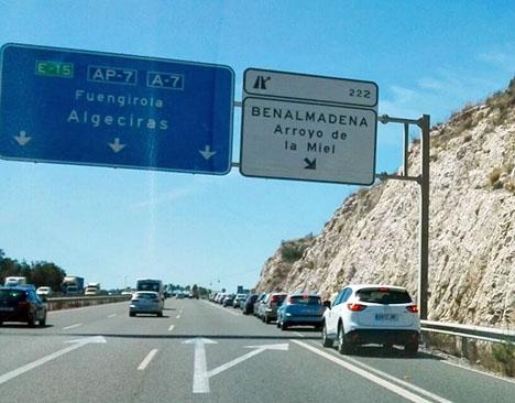 Avfarten vid Arroyo de la Miel är sedan länge överbelastad.