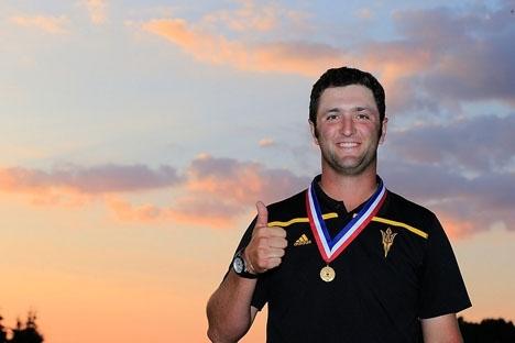 Jon Rahm var på vippen att ta sin andra tourseger i World Golfers Championship, mot världsettan Dustin Johnson. Foto: http://jonrahm.com