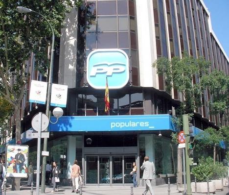 Partido Populars huvudkontor i Madrid misstänkt ha rört miljonbelopp i en B-kassa.