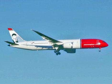 Norwegians Dreamliner har kapacitet för 344 passagerare. Foto: Adam Moreira/Wikimedia Commons