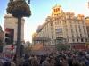 Packat med folk på Palmsöndagen i centrala Granada.