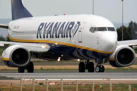 Ryanair-maskin på Sevillas flygplats. Foto: Curimedia/Wikimedia Commons
