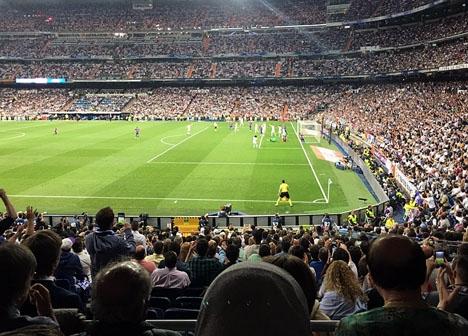 Messis segermål kom som en kalldusch för publiken i Bernabéustadion. Foto: Tomás Ocaña Urwitz