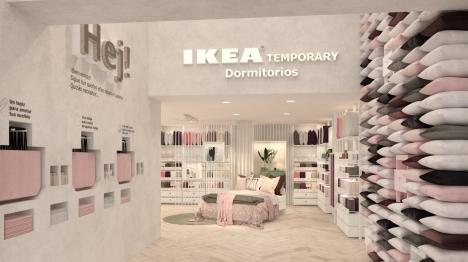 Butiken är den första i sitt slag och är ett pilotprojekt som IKEA prövar under sex månader i Madrid.