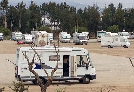 Offret var inte på semester, utan verkar ha rengjort sin husbil nära sitt hem i Torremolinos. Fotot är på andra husbilar på Costa del Sol.