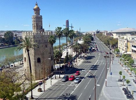 Kriget inom taxisektorn har blivit särskilt våldsamt i Sevilla.