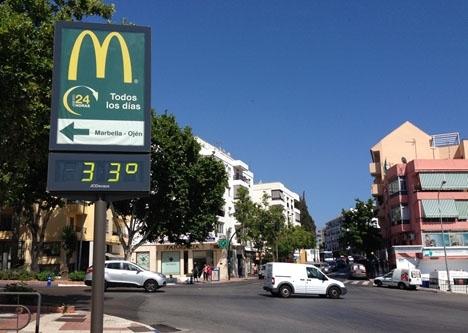 Termometern kommer att överstiga 30 grader 18 maj.
