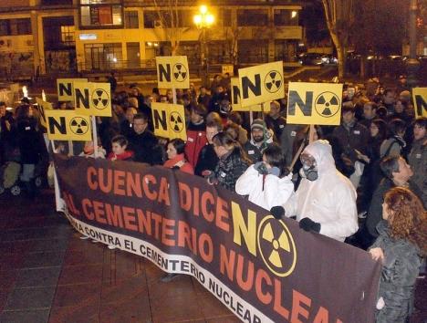 Protester från både miljöaktivister och myndigheter har bromsat den spanska förvaringsanläggningen för kärnavfall. Foto: Joseandrés Guijarro