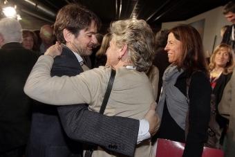 Oriol Pujol till vänster, med sin mor Marta Ferrusola. Foto: Convergència Democràtica de Catalunya