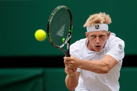 Det nya tennislöftet Alejandro Davidovich bor i Fuengirola och har svensk-rysk far. Foto: AELTC/Dillon Bryden