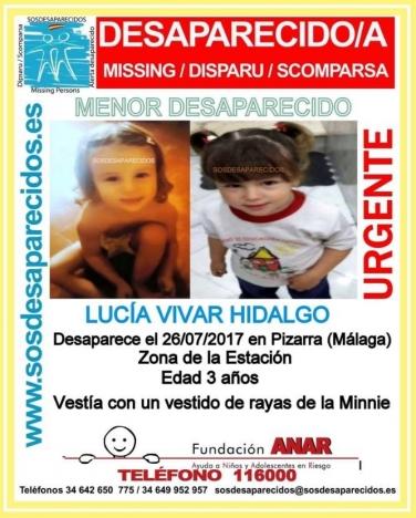 Hundratals personer deltog  i sökandet efter försvunna Lucía.
