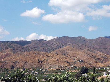 Terral är ett lokalt fenomen där varmluftsvindar tar sig från bergsmassivet Sierra de las Nieves ned till kusten, främst via Guadalhorcedalen.
