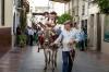 Mulåsnedrivarna tar en åktur inne i El Burgo. Foto: Ann-Christin Svenningsson