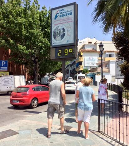 Temperaturen kommer att växla upp till tio grader denna vecka på Costa del Sol.