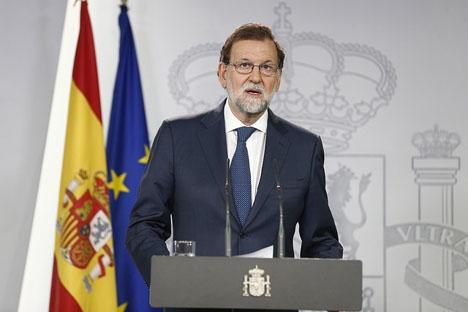 Mariano Rajoy gick 20 september ut med en direkt uppmaning till separatisterna att upphöra med sina försök att splittra Spanien.