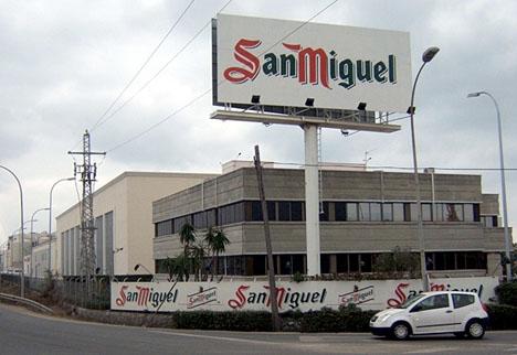 San Miguels fabrik i Málaga är deras näst äldsta i Spanien.