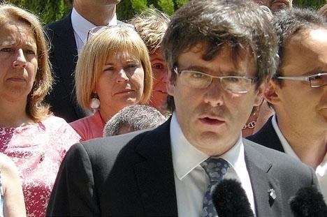 Carles Puidemonts ödesdigra tal har skjutits upp en minst drygt en timme. Foto: Convergencia de Catalunya
