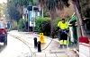 Kommunen sanerar med högtryckssprutor – mot vad vet ingen. Foto: Fia Ensgård
