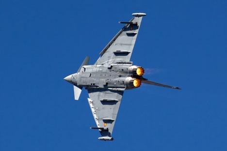 Spansk Eurofighter av samma typ som förolyckats vid Albacete. Foto: Bene Riobó/Wikimedia Commons
