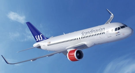 SAS kommer att flyga två gånger i veckan mellan Skellefteå och Málaga, med fabriksny A320neo. Foto: SAS