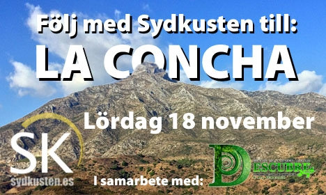 Följ med Sydkusten till toppen av La Concha 18 november!