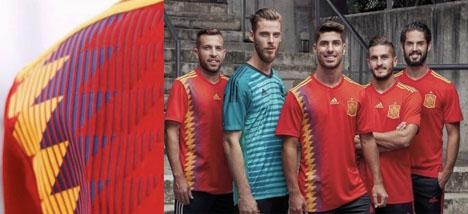 Den nya kontroversiella speltröjan. Foto: Federación Española de Fútbol