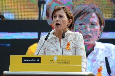 Carme Forcadell undviker häktning, om hon inom en vecka betalar en borgen på 150 000 euro.
