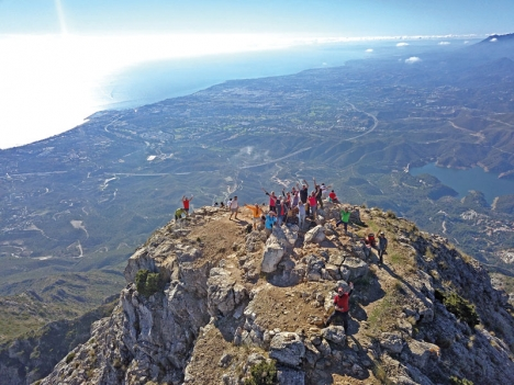 Utsikten från La Concha är magnifik. Det fick ett 20-tal skandinaver erfara 18 november, i regi av Sydkusten och äventyrsföretaget Descubre Guías del Sur.