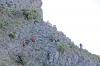 Som bergsgetter tog sig Sydkustens vandringsgrupp upp för klipporna.