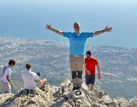 Bloggskribenten 18 november på toppen av La Concha.