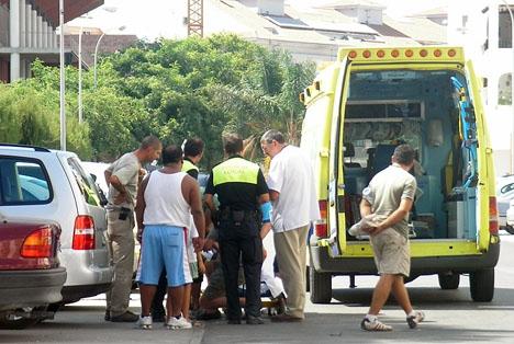 Tidigare ambulansutryckning i Fuengirola.