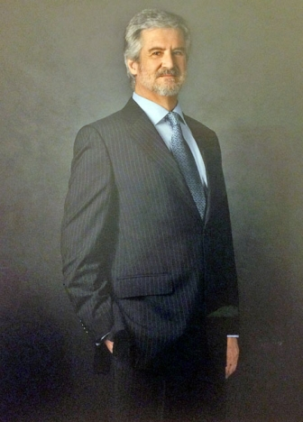 Manuel Maríns fotografi i parlamentet. Han blev 68 år gammal.