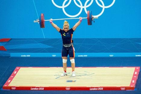 Lidia Valentín fick den här gången sin guldmedalj med alla hedersbetygelser. Foto: Simon Q/Wikimedia Commons