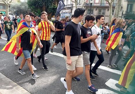 De katalanska separatisterna har utvidgat sina aktioner till Bryssel. Foto: Petra S.G.